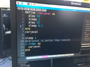code on screen